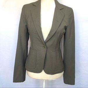 Theory Wool Blend Tan Blazer Size 6